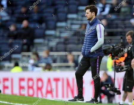 Stock Photo of Tottenham Under 18 coach Ryan Mason during Tottenham Hotspur Under-18 vs Southampton Under-18, Under-18 Premier League Football at Tottenham Hotspur Stadium on 24th March 2019
