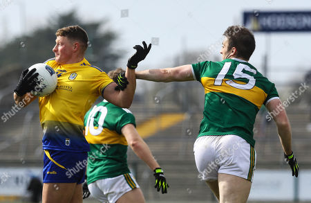 Roscommon vs Kerry. Roscommon's Conor Cox and Stephen O'Brien of Kerry