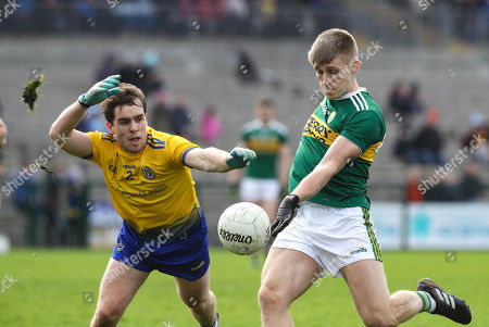 Roscommon vs Kerry. Roscommon's David Murray and Killian Spillane of Kerry
