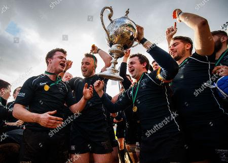 Stock Photo of Connemara vs Creggs. Connemara's Peter O'Toole lifts the trophy
