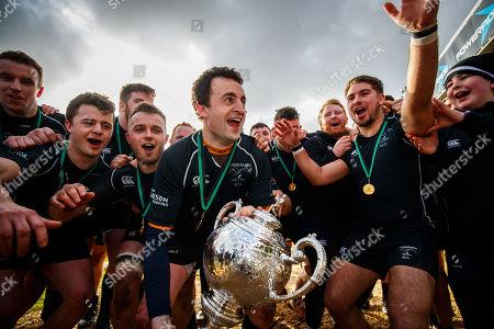 Connemara vs Creggs. Connemara's Peter O'Toole lifts the trophy