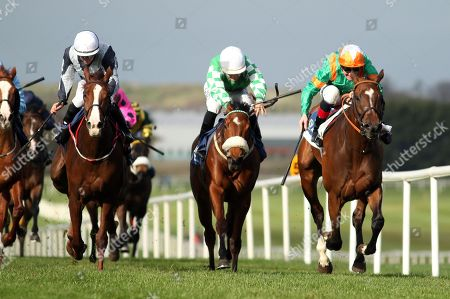Stock Photo of The Lodge Park Stud Irish EBF Park Express Stakes. Kevin Manning onboard Normandel (far right) comes home to win