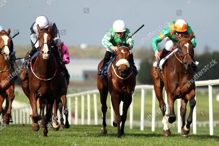 The Lodge Park Stud Irish EBF Park Express Stakes. Kevin Manning onboard Normandel (far right) comes home to win
