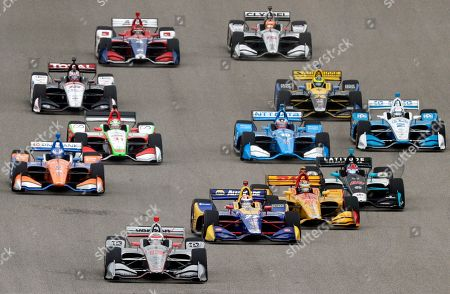 Alexander Rossi, Ryan Hunter-Reay, Will Power. Will Power (12) of Australia, Alexander Rossi (27) and Ryan Hunter-Reay (28) lead the field into Turn 1 at the start of the IndyCar Classic auto race, in Austin, Texas