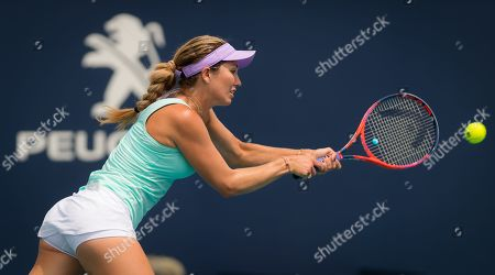 Danielle Collins of the United States in action