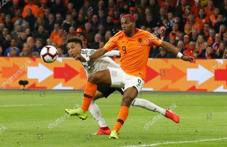 Thilo Kehrer, Ryan Babel /   /        /       / UEFA EM Qualifiers /   National Team DFB  /  2018/2019 / 24.03.2019 / Netherlands NED VS. Germany GER / DFL regulations prohibit any use of photographs as image sequences and/or quasi-video. /