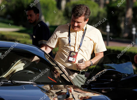 Arizona Cardinals football team president Michael Bidwill arrives for the annual NFL owners meetings, in Phoenix