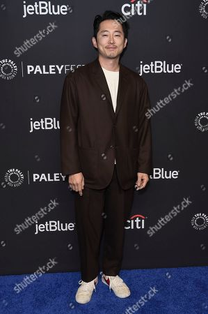 """Steven Yeun attends the 36th Annual PaleyFest """"Star Trek: Discovery and The Twilight Zone"""" at the Dolby Theatre, in Los Angeles"""