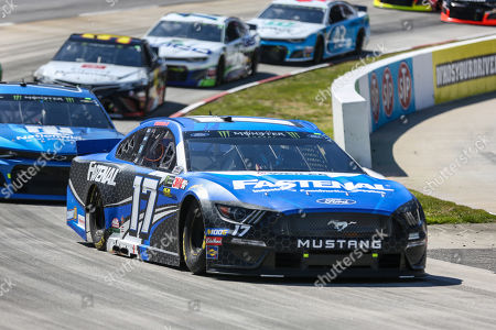 Monster Energy NASCAR Cup Series driver Ricky Stenhouse Jr. (17) drives off turn two during the STP 500 in Ridgeway, VA