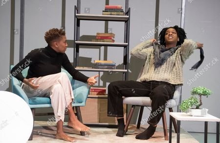 Editorial image of 'The Phlebotomist' Play by Ella Road performed at Hampstead Theatre, London, UK, 22 Mar 2019