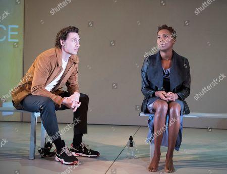 Jade Anouka as Bea, Rory Fleck Byrne as Aaron
