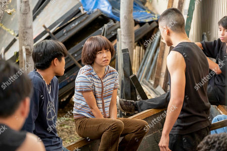 Dallas Liu as Shuji Ishii-Peters, Maya Erskine as Maya Ishii-Peters and Brandon Soo Hoo as Andy