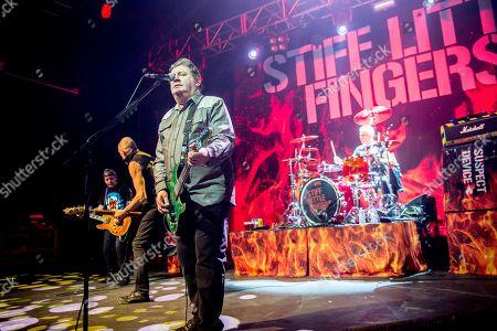 Stock Photo of Stiff Little Fingers - Ian McCallum, Ali McMordie, Jake Burns and Steve Grantley