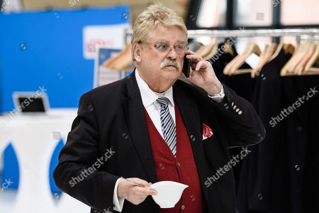 CDU Member of the European Parliament Elmar Brok talks on the phone during the beginning of a joint Christian Democratic Union (CSU) and Christian Social Union (CSU) party board meeting at the Station Berlin, Germany, 25 March 2019. The CDU and CSU gathered for a joint board meeting on the occasion of the passage of an electoral program for the European elections 2019.