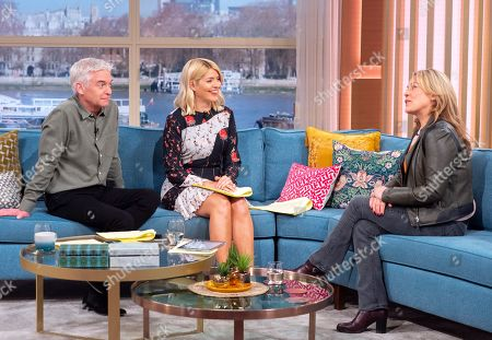 Phillip Schofield and Holly Willoughby with Sarah Beeny