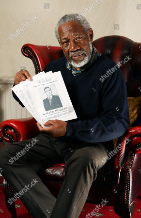 Former Mayor Of Trafford Council Whit Stennett Pictured At His Home In Stretford Manchester With A Max Mosley Pamphlet From November 1961.