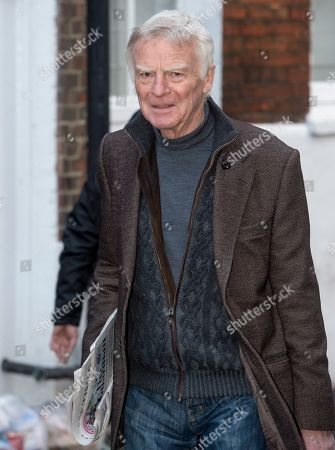 Stock Photo of Max Mosley Former Formula One Tycoon Leaving His Home In West London Today (monday) 05/03/2018.