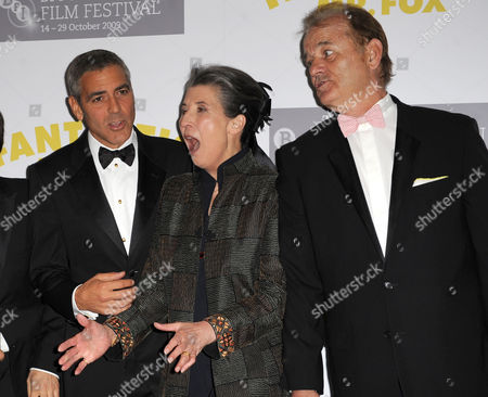 George Clooney, Felicity Dahl and Bill Murray
