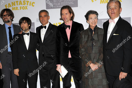 Jarvis Cocker, Jason Schwartzman, George Clooney, Wes Anderson, Felicity Dahl and Bill Murray