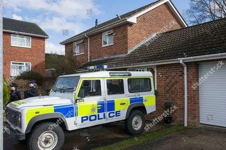 Stock Photo of Christie Miller Road Home Of Former Soviet Spy Sergey Skripal Who Was Allegedly Poisoned In Salisbury By An Unknown Substance Along With His Daughter Yulia Skripal.