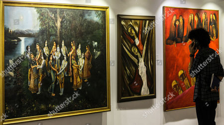 Editorial picture of Auction of paintings in Mumbai, India - 25 Mar 2019