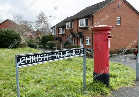 Stock Image of Christie Miller Road Home Of Former Soviet Spy Sergey Skripal Who Was Allegedly Poisoned In Salisbury By An Unknown Substance Along With His Daughter Yulia Skripal.