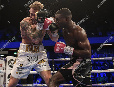 Joshua Buatsi and Liam Conroy in action during the fight