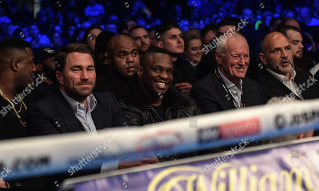 Stock Picture of Eddie Hearn, Dillian Whyte and Barry Hearn