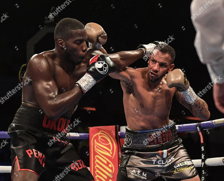 Lawrence Okolie and Wadi Camacho in action during the fight