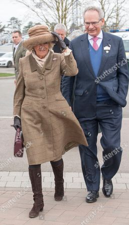 Editorial image of The Duchess Of Cornwall With Robert Waley Cohen At The Cheltenham Festival 2018 On Ladies Day Cheltenham Gloucs. Picture - Mark Large .... 13.03.18.