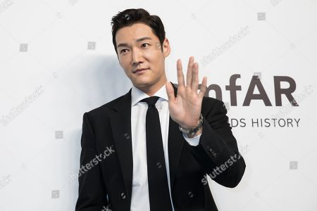 South Korean actor Choi Jin Hyuk arrives for the amfAR fundraising Gala Hong Kong 2019 in Hong Kong, China, 25 March 2019. The charity event benefits the foundation's AIDS research programs.