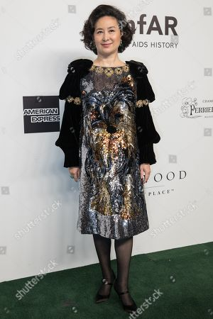 AmfAR Honorary Chair Pansy Ho arrives for the amfAR fundraising Gala Hong Kong 2019 in Hong Kong, China, 25 March 2019. The charity event benefits the foundation's AIDS research programs.