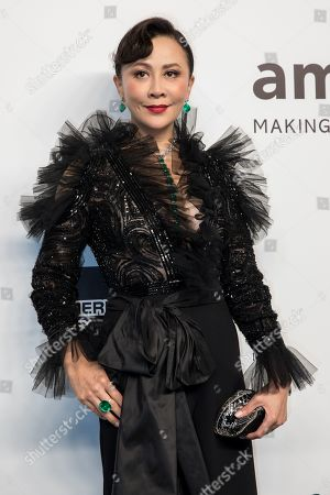 Stock Image of Hong Kong actress Carina Lau arrives for the amfAR fundraising Gala Hong Kong 2019 in Hong Kong, China, 25 March 2019. The charity event benefits the foundation's AIDS research programs.