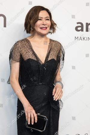 Hong Kong actress Rosamund Kwan arrives for the amfAR fundraising Gala Hong Kong 2019 in Hong Kong, China, 25 March 2019. The charity event benefits the foundation's AIDS research programs.