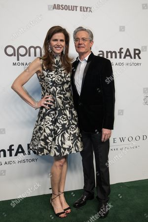 Stock Picture of US actor Kyle MacLachlan (R) and wife Desiree Gruber (L) arrive for the amfAR fundraising Gala Hong Kong 2019 in Hong Kong, China, 25 March 2019. The charity event benefits the foundation's AIDS research programs.
