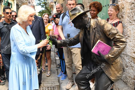 Stock Image of Camilla Duchess of Cornwall during a guided tour of Old Havana