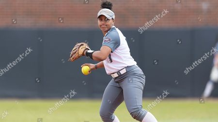 Eastern Kentucky's Bailey Smart (23) warms up before an NCAA softball game against Jacksonville State on in Richmond, Ky