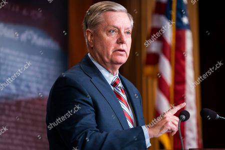 Republican Senator from South Carolina Lindsey Graham speaks on the Mueller report in the US Capitol in Washington, DC, USA, 25 March 2019. The Special Counsel did not find sufficient evidence that President Trump committed a crime by colluding with Russia.