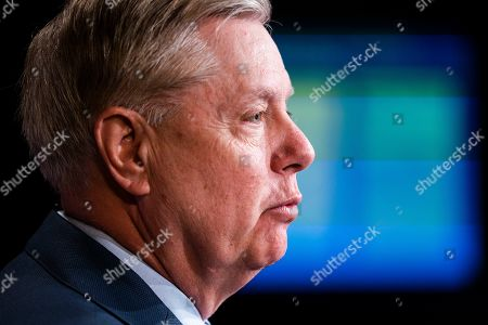 Editorial photo of Senator Graham on Special Counsel's report that did not find sufficient evidence that Trump colluded with Russia, Washington, USA - 25 Mar 2019