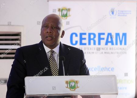 King Letsie III of Lesotho speaks during the ceremony of the official launch of the first Regional Center of Excellence against Hunger and Malnutrition in Africa (CERFAM) in Abidjan, Ivory Coast, 25 March 2019.