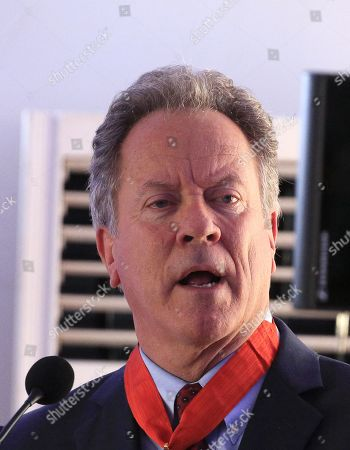 Stock Photo of The Executive Director of the World Food Program (WFP) David Beasley speaks during the ceremony of the official launch of the first Regional Center of Excellence against Hunger and Malnutrition in Africa (CERFAM) in Abidjan, Ivory Coast, 25 March 2019.  The regional center of excellence, which aims to promote the fight against hunger and malnutrition, is the third after that of Brazil and China. Staff should be recruited with the assistance of the World Food Program (WFP).