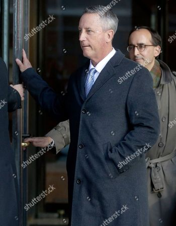 Stock Picture of Martin Fox, John Vandemoer. Martin Fox, from a private tennis academy in Houston, departs federal court in Boston, after facing charges in a nationwide college admissions bribery scandal