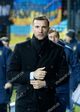 Ukraine's head coach Andriy Shevchenko before the UEFA EURO 2020 qualifier soccer match between Luxembourg and Ukraine at Josy Barthel Stadium in Luxembourg, 25 March 2019.