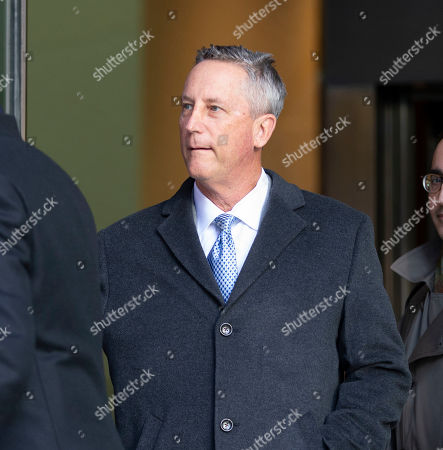 Stock Photo of Martin Fox of Houston Texas exits the John Joseph Moakley Federal Court House in Boston, Massachusetts, USA, 25 March 2019. Fox plead not guilty to charges stemming from his alleged involvement with private athletics groups in what federal prosecutors in the US Attorney's Office in Massachusetts call Operation Varsity Blues.