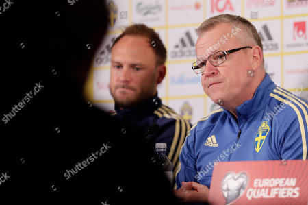 Editorial photo of Sweden press conference, Oslo, Norway - 25 Mar 2019