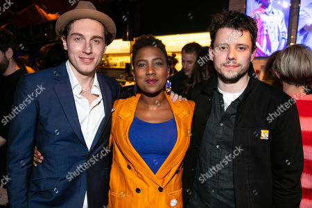 Rory Fleck Byrne (Aaron), Jade Anouka (Bea) and Sam Yates (Director)
