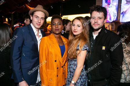 Rory Fleck Byrne (Aaron), Jade Anouka (Bea), Ella Road (Author) and Sam Yates (Director)