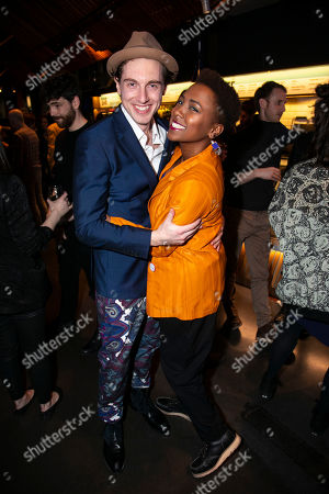 Stock Image of Rory Fleck Byrne (Aaron) and Jade Anouka (Bea)