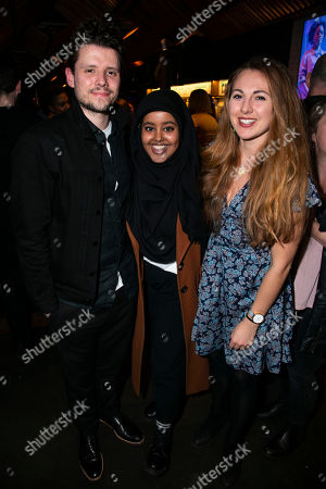 Sam Yates (Director), Nimmo Ismail (Assistant Director) and Ella Road (Author)
