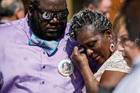 Family members and community members gather for the interfaith 'Memorial of Light' service for Trinity Love Jones, at St. John Vianney Parish in Hacienda Heights, California, USA, 25 March 2019. The body of Trinity Love Jones, 9-years-old, was found in a duffel bag along a trail in Hacienda Heights this month. Taquesta Graham, 28, a former Long Beach resident, has been in custody without bail since 08 March on a warrant unrelated to her daughter's death. She was extradited from Texas to California last week to answer investigators' questions about Trinity. Graham's boyfriend, Emiel Hunt, 38, has also been charged with murder in the child's death. If convicted, Hunt faces up to 55 years to life in prison. Graham faces a maximum sentence of 26 years to life in state prison if convicted.